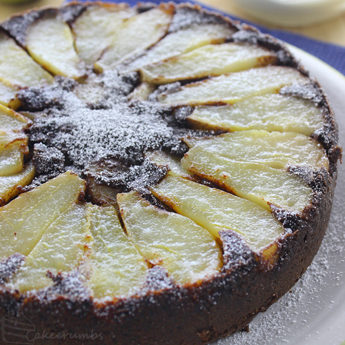 Cakecrumbs' Molten Chocolate and Pear Pudding