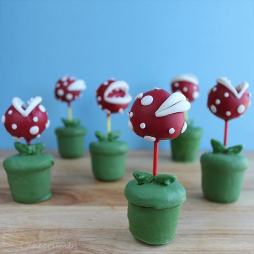 Piranha Plant Cake Pops