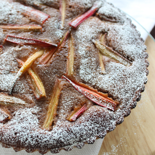 Cakcrumbs Nutella and Rhubarb Tart
