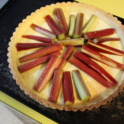 Cakcrumbs' Rhubarb and Nutella Tart