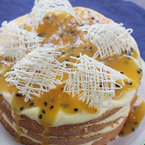 Cakecrumbs' Lemon and Passionfruit Sponge