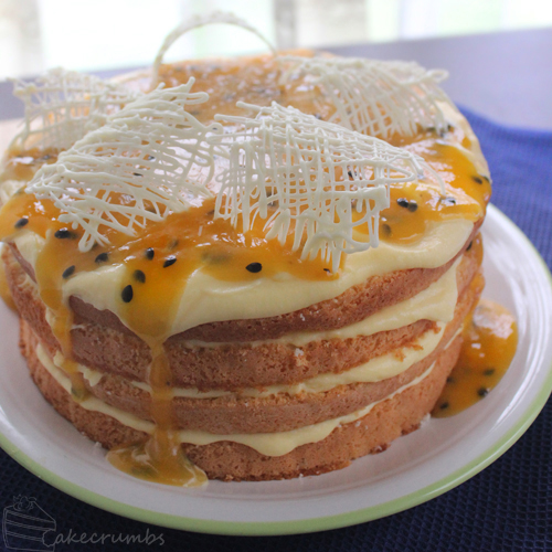 Lemon and Passionfruit Sponge