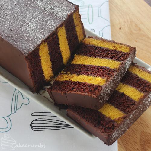 Cakecrumbs' Choc Banana Vertical Layer Cake 08