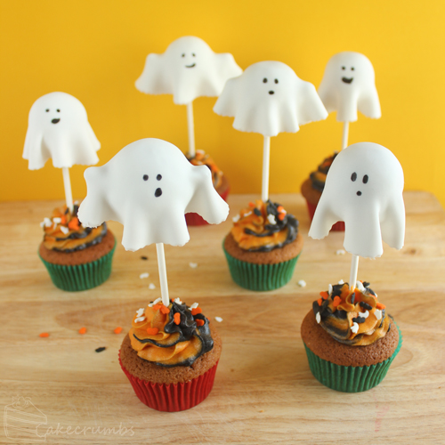 Cakecrumbs' Ghostly Pumpkin Cupcakes 17
