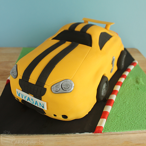 Cakecrumbs' Race Car Cake 04