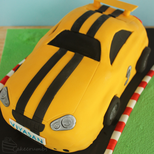 Cakecrumbs' Race Car Cake 06