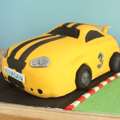 Cakecrumbs' Race Car Cake 07