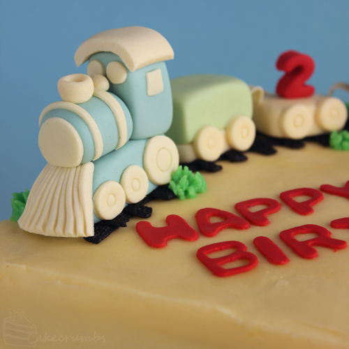 Swell Second Birthday Train Cake Cakecrumbs Funny Birthday Cards Online Inifodamsfinfo