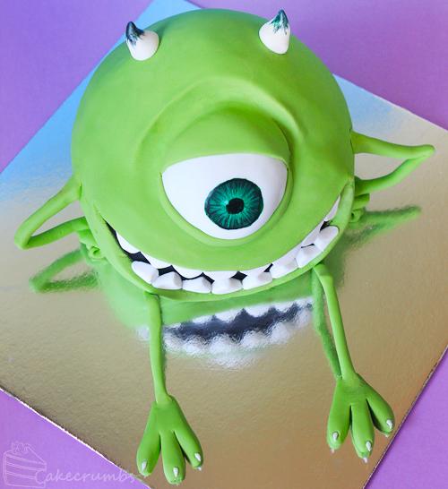 Cakecrumbs' Mike Wazowski Cake 03