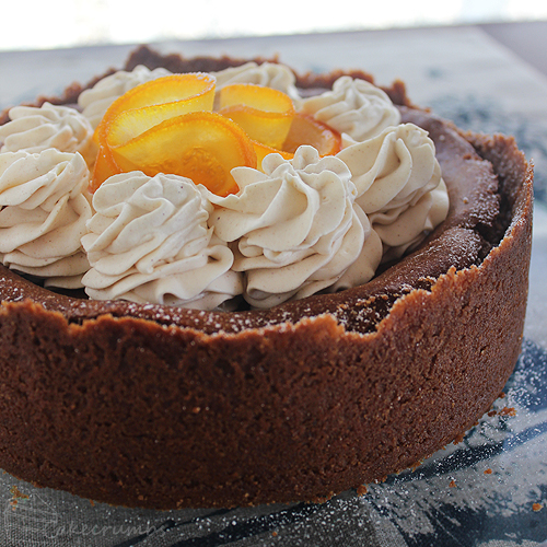 Cakecrumbs' Choc Orange Baked Cheesecake 010