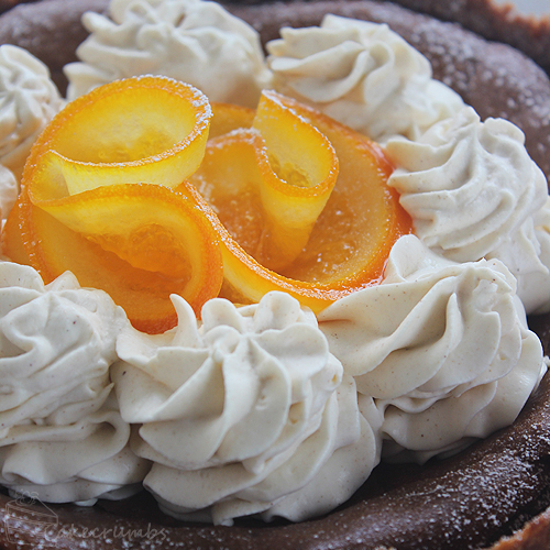 Cakecrumbs' Choc Orange Baked Cheesecake 011