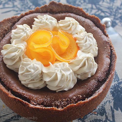 Cakecrumbs' Choc Orange Baked Cheesecake 08