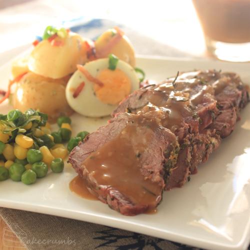 Cakecrumbs' Herb Crusted Beef Sirloin 06