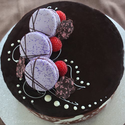 Chocolate Raspberry Cake Decoration : Joconde Imprime with Chocolate, Hazelnut and Raspberry ...