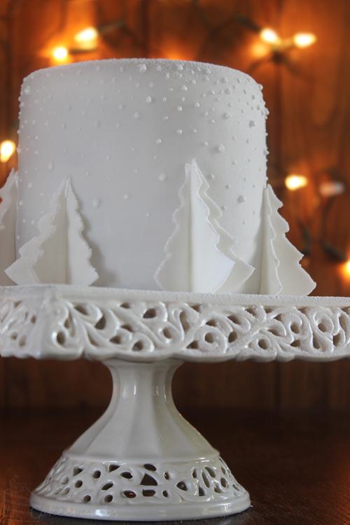 Cakecrumbs' White Christmas Tree Cakes 00