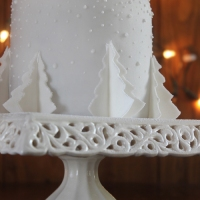 White Christmas Tree Cake