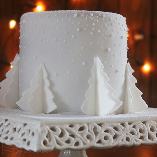Cakecrumbs' White Christmas Tree Cakes 24