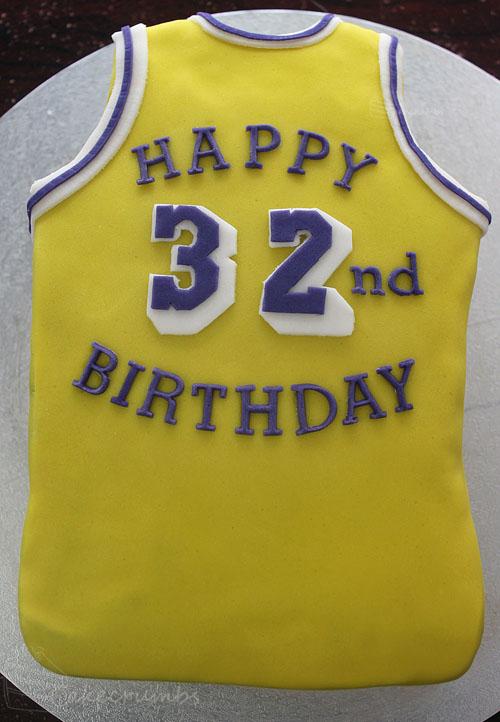 Magic Johnson 32nd Birthday Cake Cakecrumbs