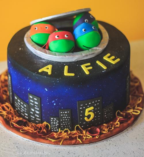 Enjoyable Tmnt Birthday Cake Cakecrumbs Personalised Birthday Cards Paralily Jamesorg