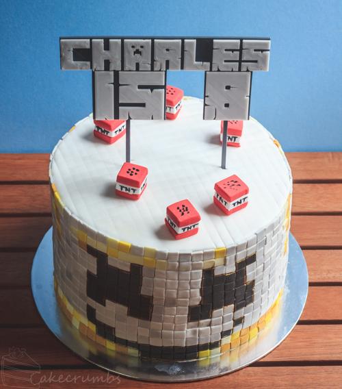 Marvelous Marshmello Minecraft Rainbow Birthday Cake Cakecrumbs Funny Birthday Cards Online Alyptdamsfinfo